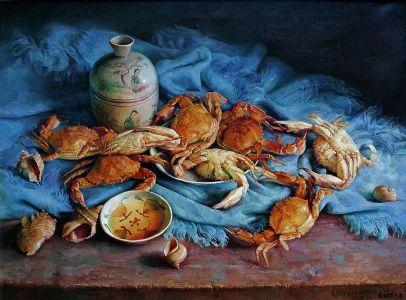 《暖阳沐竹》油画100X80cm2016年作